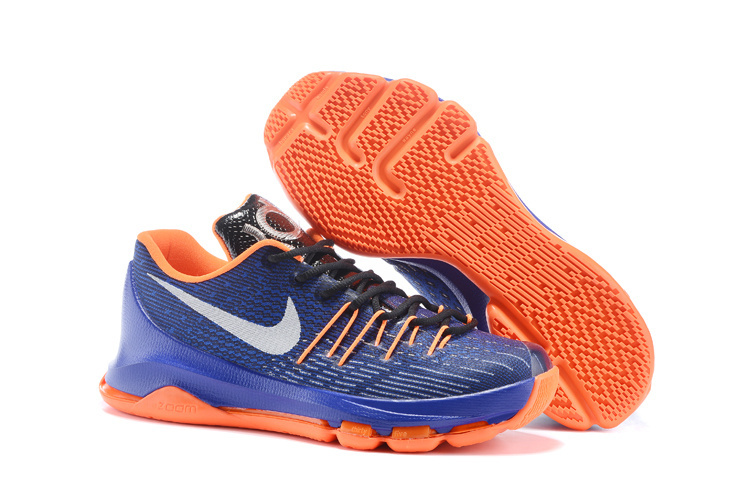 Nike KD 8 Game Royal Total Orange White Basketball Shoes