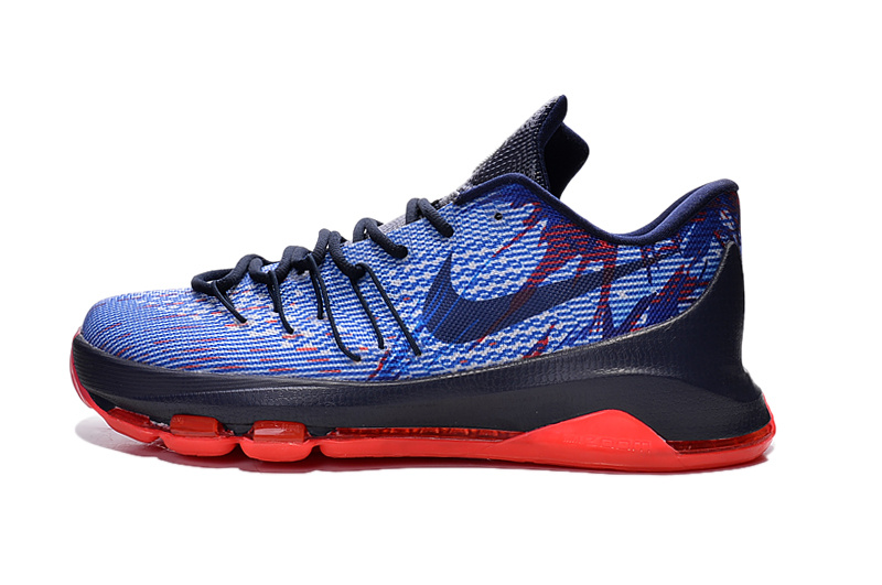 Nike KD 8 USA Soar Midnight Navy Bright Crimson White749375 446 (1) Basketball Shoes