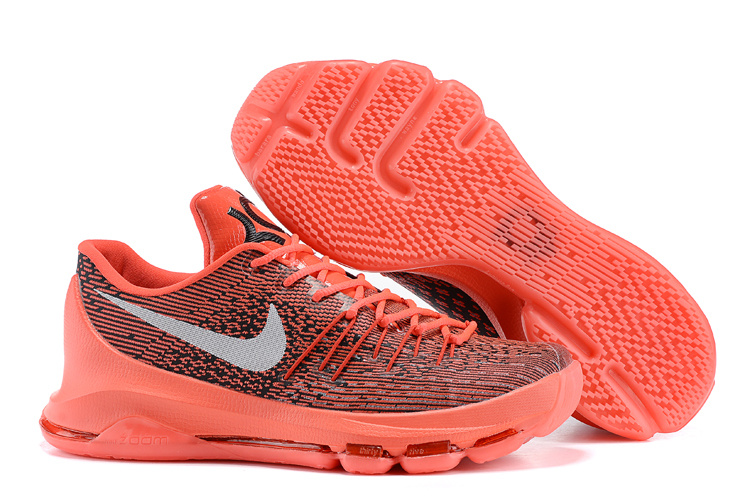Nike KD 8 V 8 Bright Crimson White Black 749375 610 Basketball Shoes
