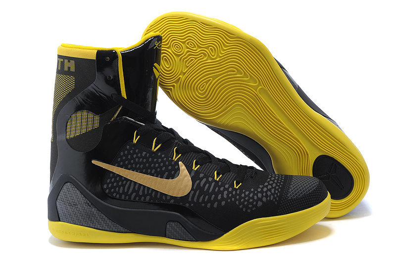 Nike Kobe 9 Elite High Black Speed Yellow Black 645701 300 Clearance