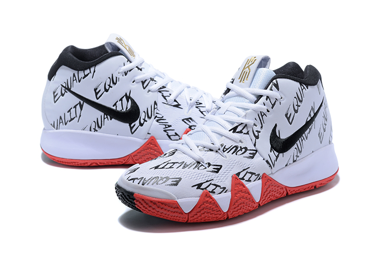 Nike Kyrie 4 White Black Red Shoes For Women