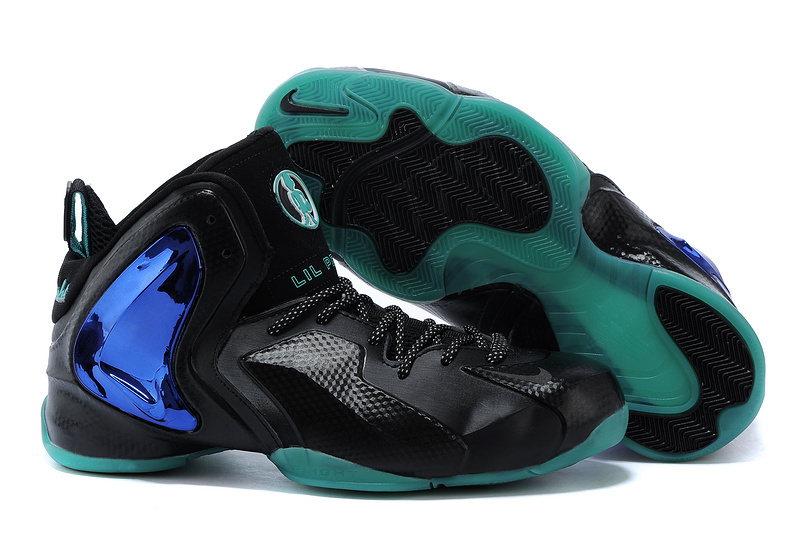 Nike Lil Penny Posite Black Bright Blue Hyper Blue 630999 002