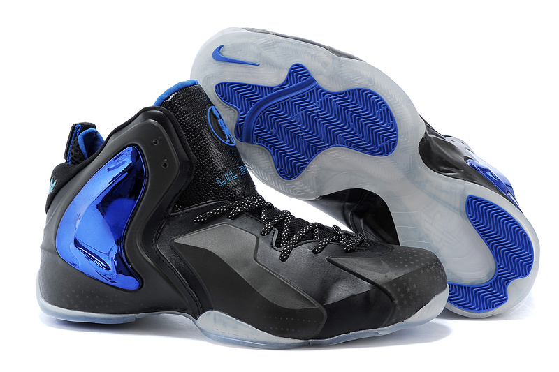 Nike Lil Penny Posite Black Bright Blue White 630999 400