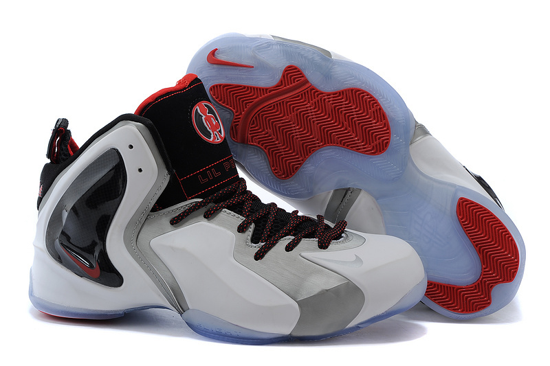 Nike Lil Penny Posite White Wolf Grey Red 630999 100