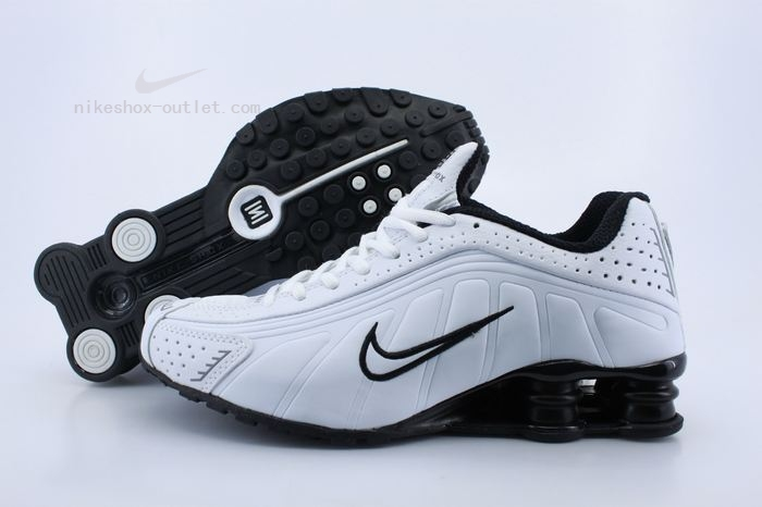 Nike Shox R4 mens all white black