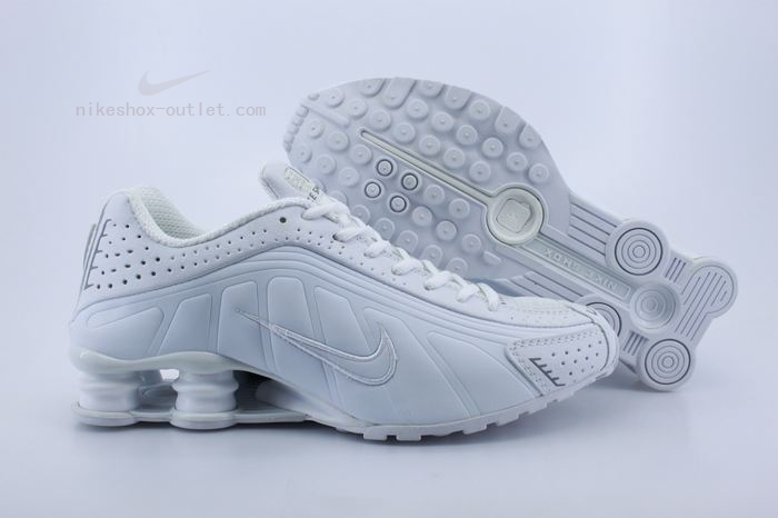 Nike Shox R4 mens all white