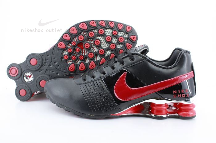 Nike Shox R4 mens black red logo