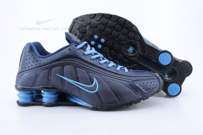 Nike Shox R4 mens deep blue