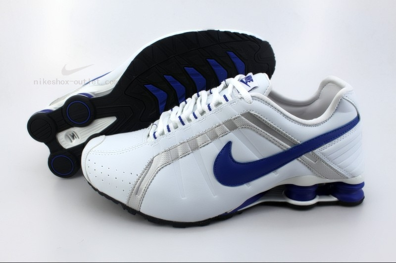Nike Shox R4 mens new white blue