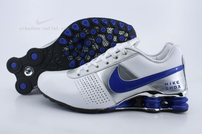 Nike Shox R4 mens white blue