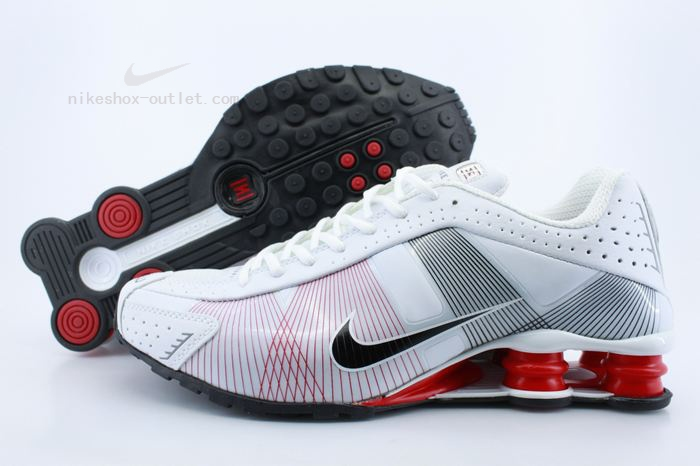 Nike Shox R4 mens white red