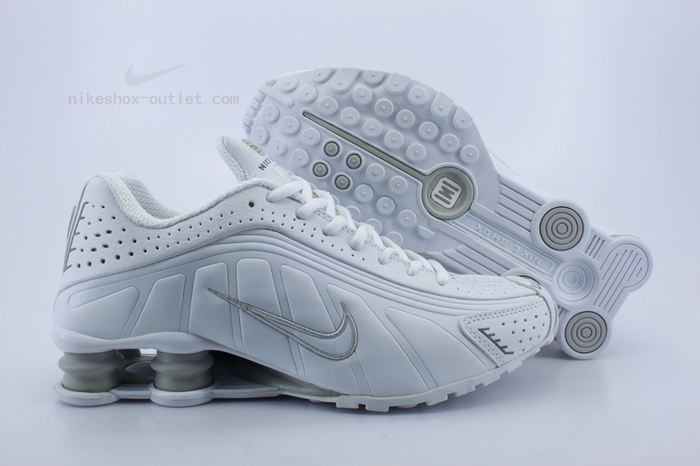 Nike Shox R4 womens all white shoes