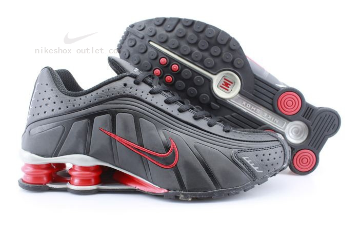 Nike Shox R4 womens black red