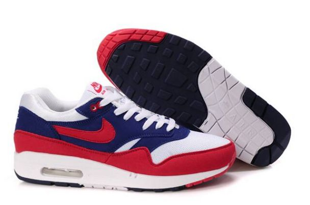 Nike Air Max 1 Men's Midnight Navy/Action Red Neptune BleuM1H0