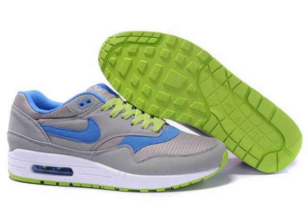 Nike Air Max 1 Men Omega Charcoal/Blue Green M1H024