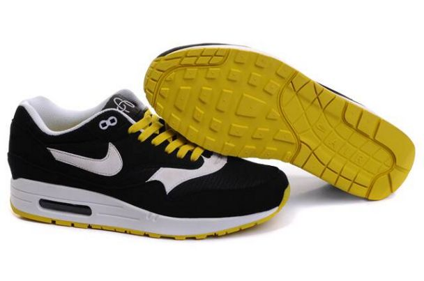 Nike Air Max 1 Men Omega Black/White JauneM1H012