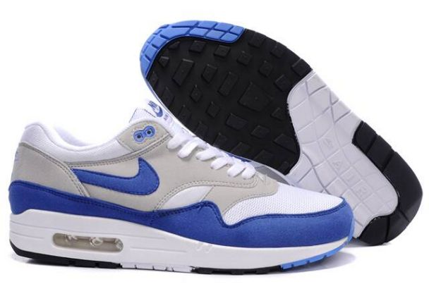 Nike Air Max 1 Men QS White/Varsity Royal Neutral Grey M1H020