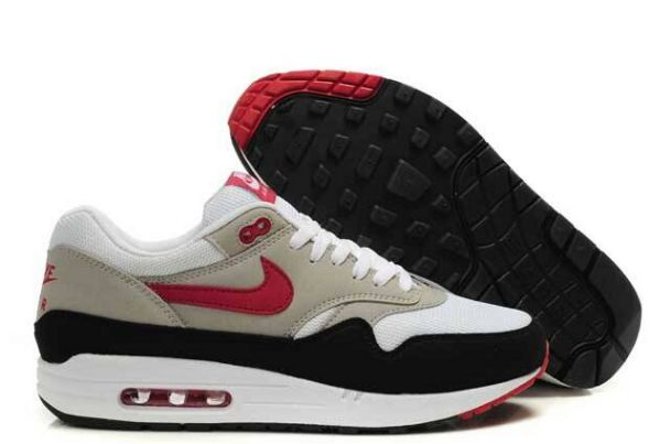 Nike Air Max 1 Men Grey/Black Sport Red Boutique M1H021