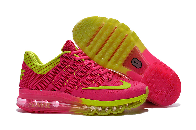 Nike Air Max 2016 Pink Red Fluorscent Shoes For Women