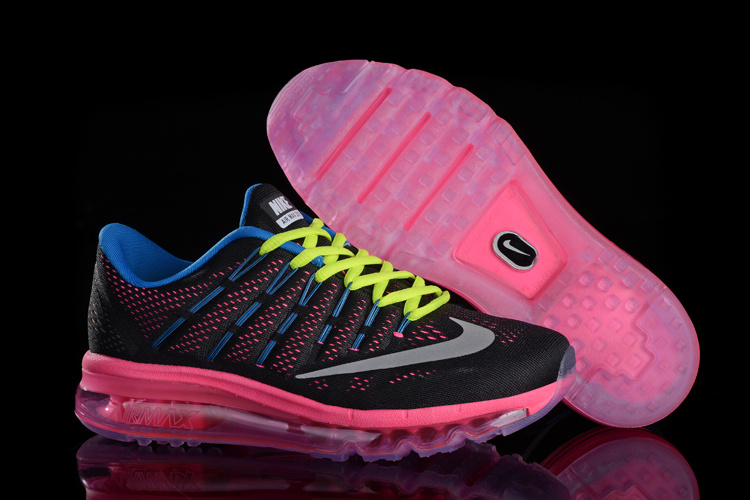 Nike Air Max 2017 Black Blue Pink Fluorscent Green Shoes For Women