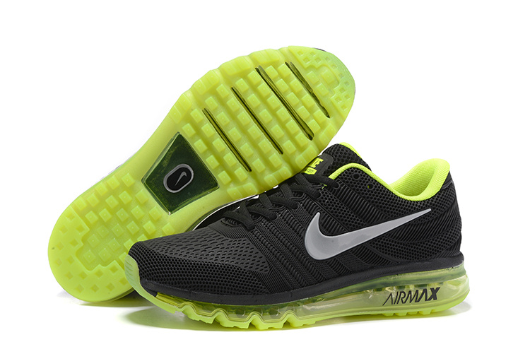 Nike Air Max 2017 Black Fluorscent GreenRunning Shoes