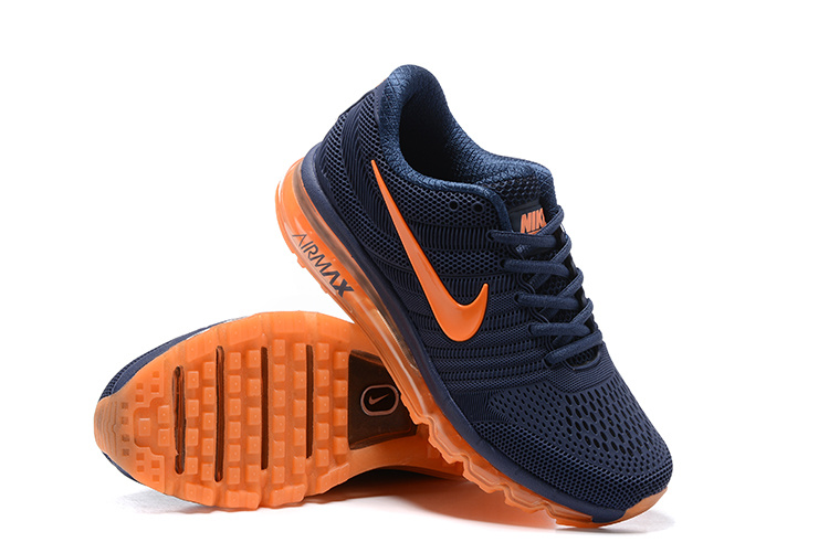 Nike Air Max 2017 Deep Blue Orange Running Shoes