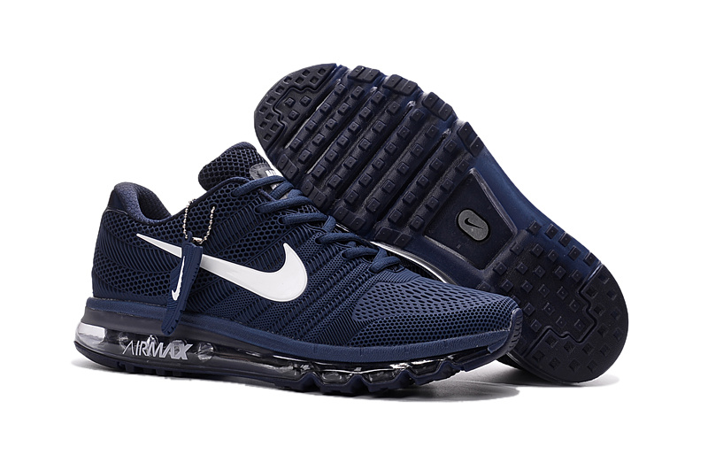 Nike Air Max 2017 Deep Blue White Running Shoes