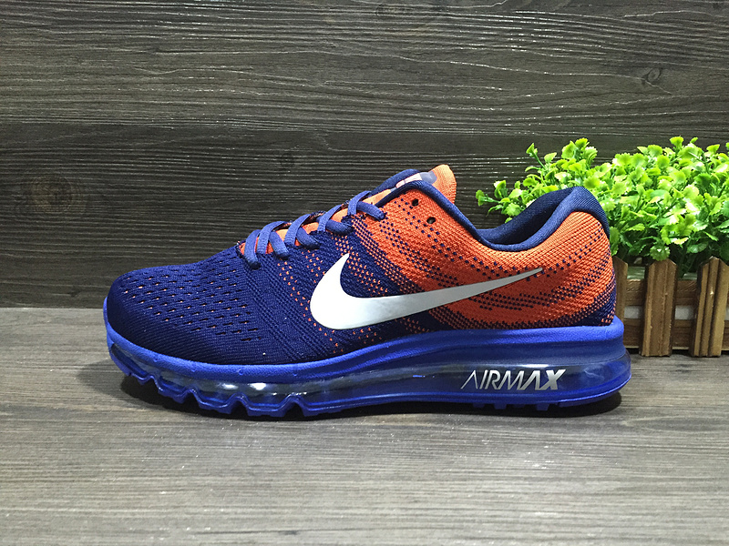 Nike Air Max 2017 Flyknit Blue Orange White Shoes