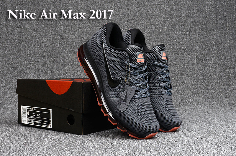 Nike Air Max 2017 Grey Black Red Running Shoes