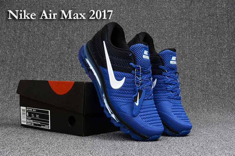 Nike Air Max 2017 Sea Blue Black White Running Shoes