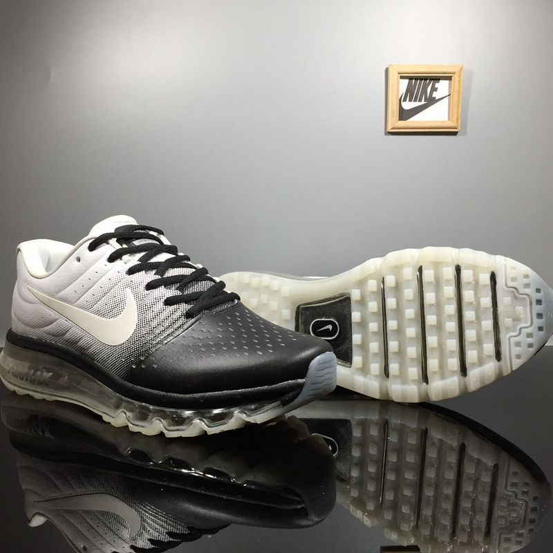 Nike Air Max 2017 White Black Shoes For Women