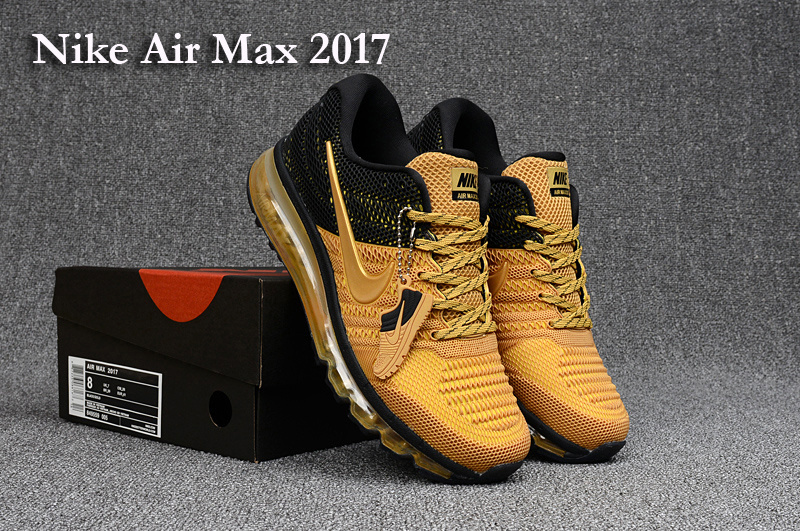 Nike Air Max 2017 Yellow Black White Shoes