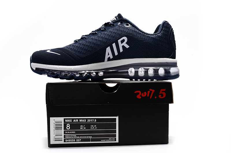 2017 Men Air Max 2017.5 Blue White Shoes