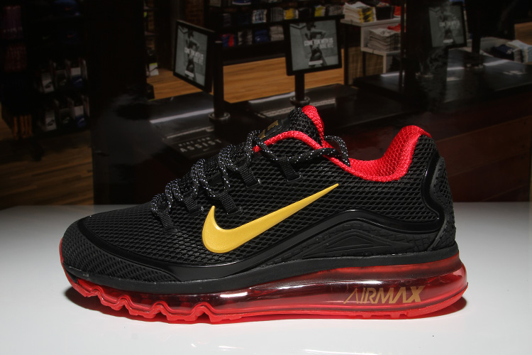 Men Air Max 2018 Elite Black Red Yellow Shoes