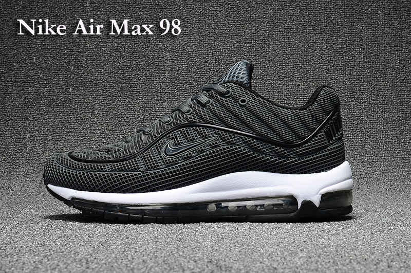 2017 Men Air Max 98 Black White Shoes