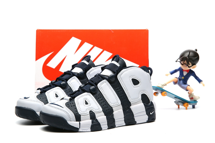 Nike Air More Uptempo White Deep Blue Shoes