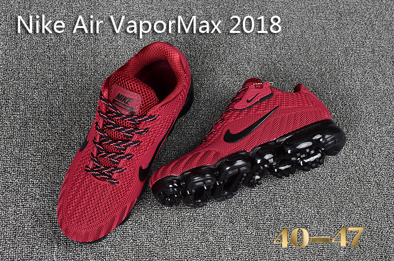 2017 Men Air VaporMax Red Black Shoes
