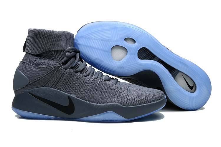Nike Hyperdunk 2016 High Grey Blue Sole Shoes