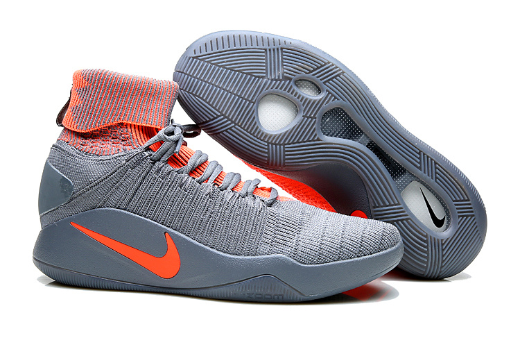 Nike Hyperdunk 2016 High Grey Orange Shoes