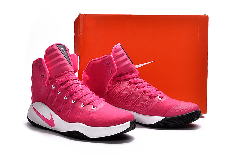 Nike Hyperdunk 2016 High Pink White Basketball Shoes