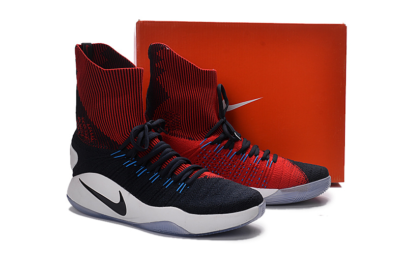 Nike Hyperdunk Flyknit Black Red Blue Shoes