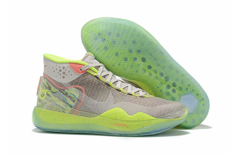 Nike KD 12 Flourscent Grey Green Shoes For Sale