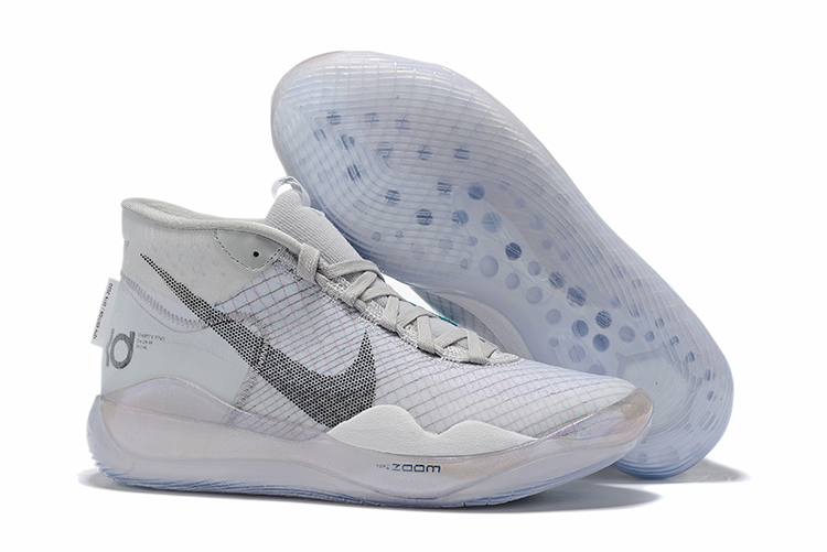 Nike KD 12 Glof Grey Shoes For Sale