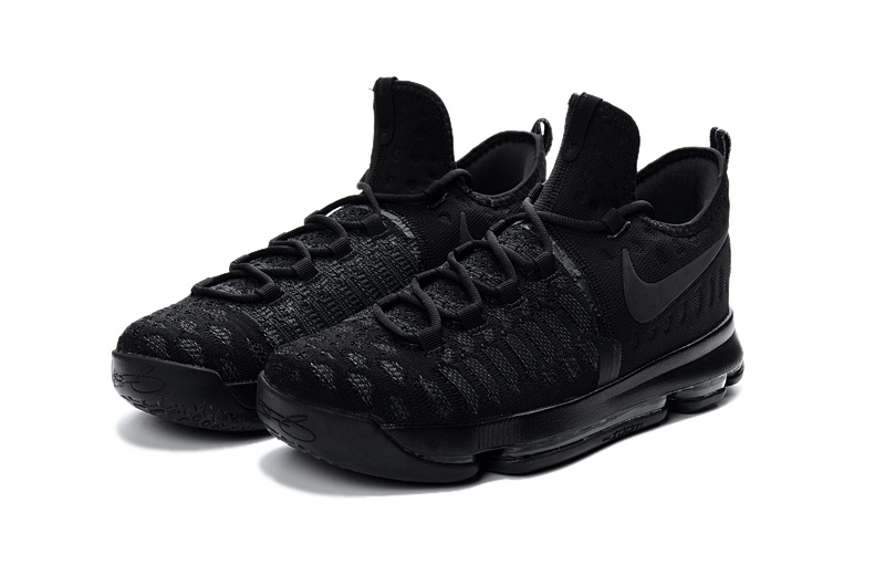 Nike KD 9 All Black Worriors Shoes