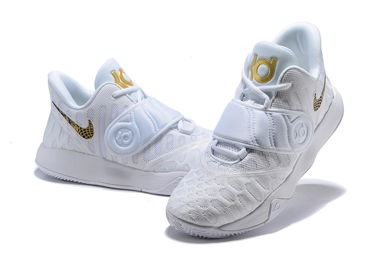 2020 Nike KD Trey 5 VI White Gold Mens Basketball Shoes