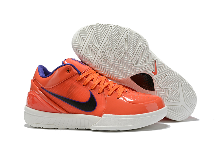 Nike Kobe 4 Orange Red White Shoes For Sale