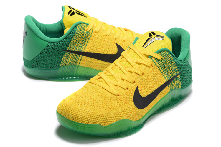 Nike Kobe Bryant 11 Yellow Green Shoes
