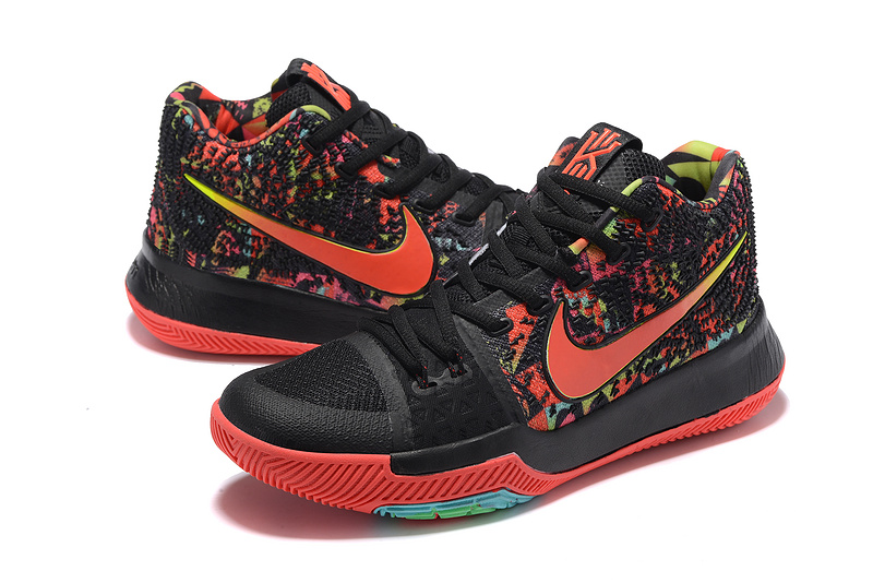 Nike Kyrie 3 Black Red Colorful Shoes