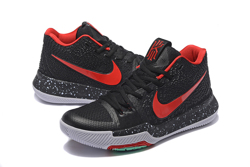 Nike Kyrie 3 Black Red Grey Shoes