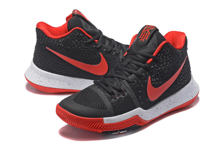 Nike Kyrie 3 Black Red White Shoes